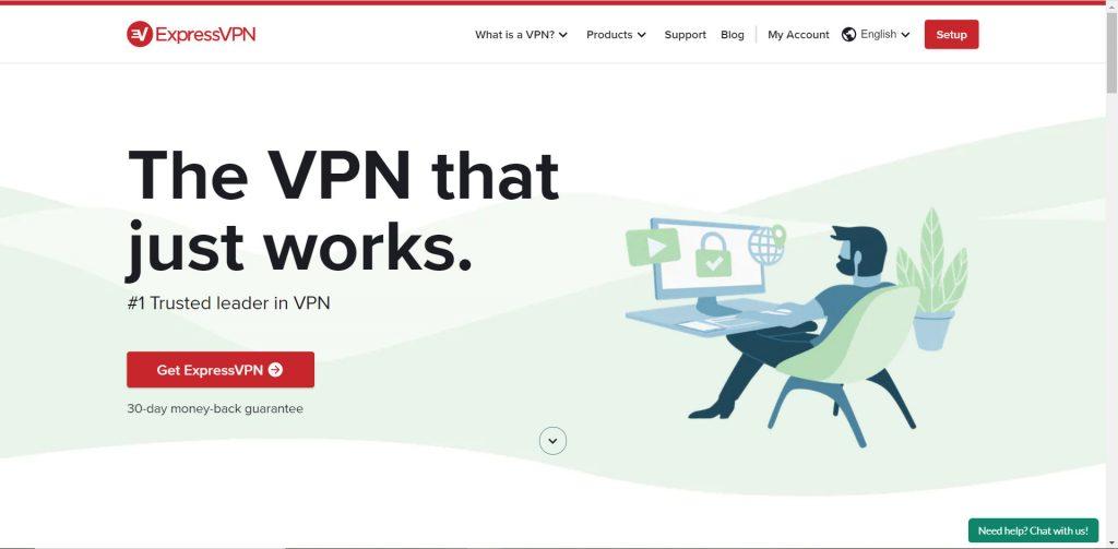打开ExpressVPN官网